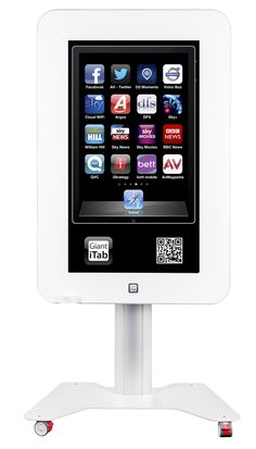 Interactive touchscreen tablet by Giant iTab Standing Signage, Digital Signage, Betta, Volvo, Monitor, Safari, Phone, Tables, Telephone