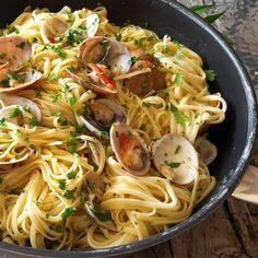 Linguine ai frutti di mare con un piccolo segreto del ristorante
