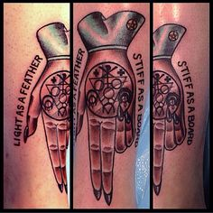Super fun tattoo today on @thenerdystripper for all the 90s kids this tattoo was based on the movie The Craft ;)