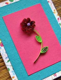 Quilled Heart Scroll Flower - Valentine Card by all things paper, via Flickr http://www.allthingspaper.net/2014/01/quilled-valentine-flower-card-tutorial.html?utm_source=feedburner&utm_medium=email&utm_campaign=Feed%3A+allthingspaper%2FWDuF+%28all+things+paper%29