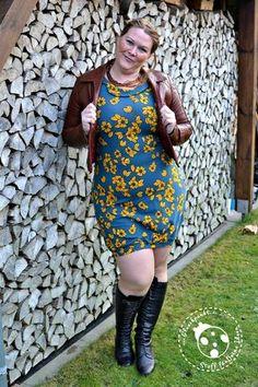 "Nähen - eBook - Kleid/Shirt ""Lilly"" - Damen - retro - Tropfenausschnitt - Kragen - Drei eMs - Glückpunkt."