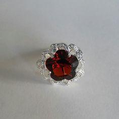 Brazil citrine Flower Ring Sterling Silver Brazil citrine Ring. Stone Size: 15x15 mm. Ring size: 9 Jewelry Rings