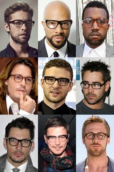 f76c6e3ca051 Men's Celebrity Glasses/Spectacles Looks Do you live in the San Francisco  area? Find your personal eyewear style at Art and Science of Eyewear, ...
