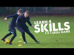 Learn 4 Football Skills to lose your defender & 1v1 skill game - Day 31 ...