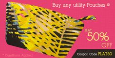 FLAT 50% off on any Utility Pouches