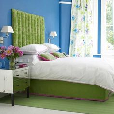 Blue And Green Bedroom Blue Green Bedrooms, Bedroom Green, Green Rooms, Bedroom  Colors