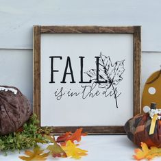Fall isn't quite in the air yet, but it won't be long! Fall has hit the shop though in full force and there are so many items to choose from! Fall Wood Signs, Diy Wood Signs, Fall Signs, Harvest Decorations, Halloween Decorations, Thanksgiving Tablescapes, Thanksgiving Wreaths, Country Crafts, Fall Home Decor