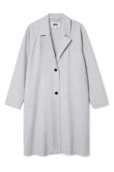 <p>The Vivi Coat is made from a recycled wool-blend and has modern raw…