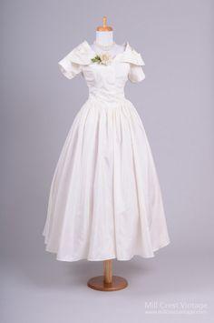 1960 Taffeta Vintage Wedding Dress