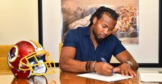 Pen to paper! CB Josh Norman  has officially signed with the Redskins. 4/22/2016