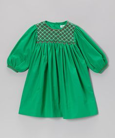 Take a look at this Green & Red Smocked Dress - Infant, Toddler & Girls by Petit Pomme on #zulily today!