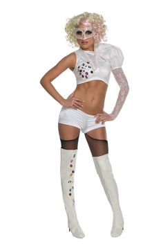 Lady Gaga 2009 VMA White Performance Outfit Adult Costume
