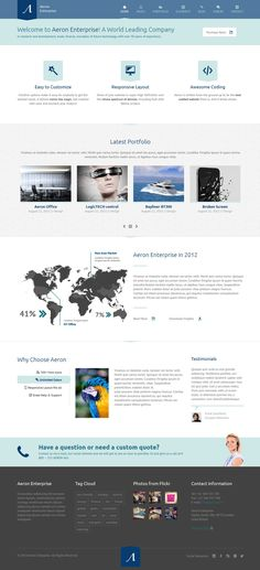 Aeron – Premium Responsive Corporate Theme. Best WordPress Themes 2013. #best_wordpress_themes_2013