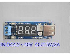 DC BUCK Converter Regulator 4.5-40V 12V To 5V/2A USB Charger Voltmeter Display