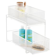 White 2-Drawer Mesh Organizer | The Container Store