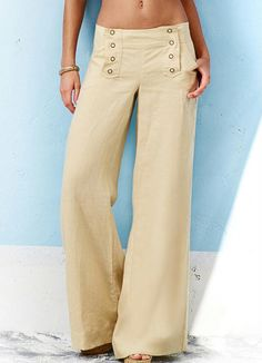 Calça Pantalona Bege - Posthaus