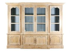 Palatial French Style Pickled Pine Breakfront : Lot 893