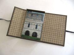 Photography portfolio box - brown with Florentine decorative paper. $49.95, via Etsy.
