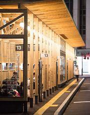 秋田駅の木造バスターミナル | くらしの良品研究所 | 無印良品