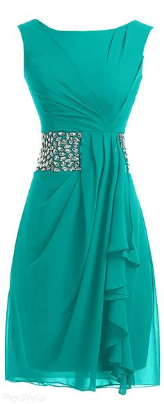 Sunvary 2015 Short Chiffon Evening Dress