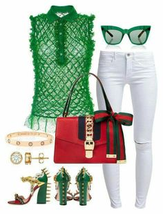 A fashion look from March 2016 featuring sleeveless tops, slim fit jeans and gucci sandals. Browse and shop related looks. Diva Fashion, Fashion Brands, Fashion Looks, Womens Fashion, Classy Outfits, Stylish Outfits, Fashion Outfits, Looks Jeans, Swagg