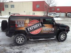 Vehicle wrap K6 Media did for Fatboys!