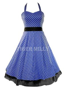 H 50's Polka Dot Dress for Jubilee 50s fancy dress & summer events =D
