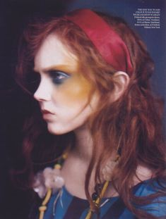 British Vogue April 2005 Painted Lady Model: Lily Cole Photographer: Paolo Roversi Hair: Paul Hanlon Make-up: Charlotte Tilbury Stylist: Lucinda Chambers Lily Cole, Paolo Roversi, Fashion Photography Inspiration, Portrait Inspiration, Makeup Inspiration, Makeup Ideas, Viviane Sassen, Foto Fun, Pictures Of Lily