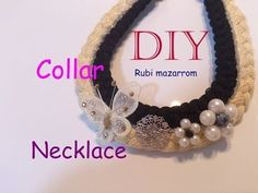 Diy. Collar trenzas de hilo decorado
