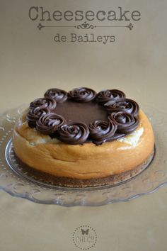 CHEESECAKE DE BAILEYS Y CHOCOLATE Alcoholic Desserts, Bird Cakes, Cupcakes, Cheesecake Desserts, Sweet Pastries, My Dessert, Baking And Pastry, Love Cake, Food Menu