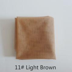 1 yard light brown cordón suizo para la fabricación de pelucas y peluca tapas de pelucas de material o el cierre de encaje, 5 colores disponibles de alta calidad