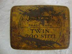 The Twin Trademark 200 Steel Gramophone Needle Litho Print Tin Box, England #TheTwinTradeMark