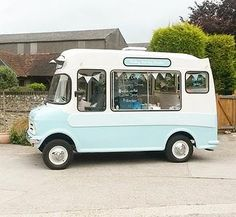 Vintage Ice Cream Van Wedding Party Event Hire Sweets Candy Reception Vanilla Weddings East Sussex