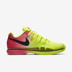 177064b38a2e Nike Zoom Vapor 9.5 Tour Mens Tennis Shoes Volt Black Hyper Pink RIO 631458  706