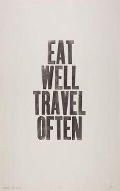 eat well print