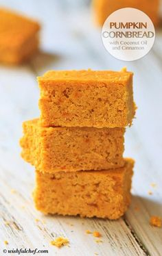 Pumpkin Cornbread with Coconut Oil and Cinnamon // wishfulchef.com