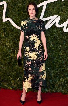 Austin Reed | Michelle Dockery at the British Fashion Awards 2014