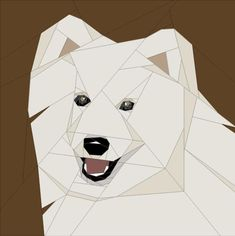 Name: 'Quilting : Samoyed in. Dog Quilts, Animal Quilts, Barn Quilts, Paper Pieced Quilt Patterns, Quilt Patterns Free, Sewing Patterns, Quilting Projects, Quilting Designs, Quilting Templates