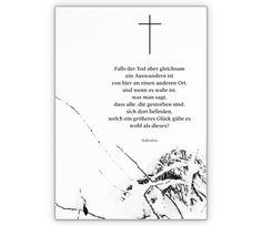 Grußkarte: Beileidskarte mit Wolken/ Himmels Motiv und tröstenden ...