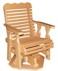 Plainback Swivel Glider Also available in Rollback Pictured in Cedar