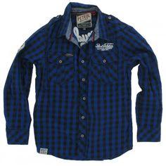 Petrol Industries - Blouse blauw Toddler Boy Fashion, Toddler Boys, Denim Button Up, Button Up Shirts, Zara Kids, Manish, Boys Shirts, Smart Casual, Christian