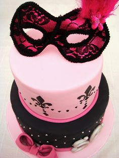 pink and black cakes - Google Search