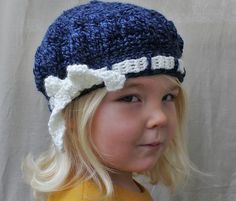 Love the Denim Blue looking thread. Ravelry: The Molly Tam pattern by Naturally Nora.