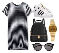 """Casual adidas superstar inspired outfit"" by feerag on Polyvore featuring moda, adidas, Michael Kors, Casio y Yves Saint Laurent"