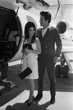 60's Elvis and Priscilla...oooo that dress