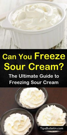 Can You Freeze Sour Cream? - The Ultimate Guide to Freezing Sour Cream - - How can you freeze sour cream? This guide points you in the right direction, and leaves you with a tasty recipe to break in your frozen sour cream! Mexican Sour Cream, Make Sour Cream, Homemade Sour Cream, Can You Freeze Cream, Recipes With Sour Cream, Freezing Cream Cheese, Freezing Milk, Freezing Fruit, Sour Cream Scones