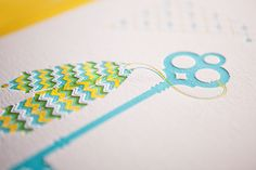 Love these colors! And of course letterpress is always the best. By The hungry workshop