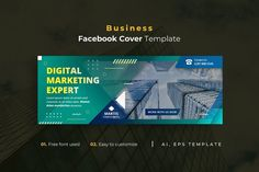 Business Facebook Cover Template AI, EPS Facebook Cover Template, Lorem Ipsum, Digital Marketing, Templates, Business, Stencils, Vorlage, Store, Business Illustration