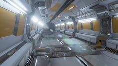 Sci-fi corridor W.I.P., Max Kaspersson on ArtStation at https://www.artstation.com/artwork/sci-fi-corridor-w-i-p