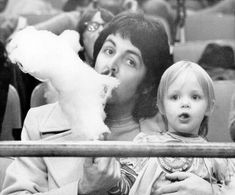 Paul McCartney and his daughter Stella, circa mid 1970's